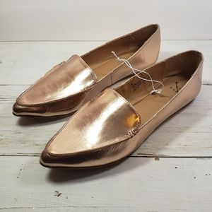 A New Day Rose Gold Pointed Toe Loafer 8 1/2